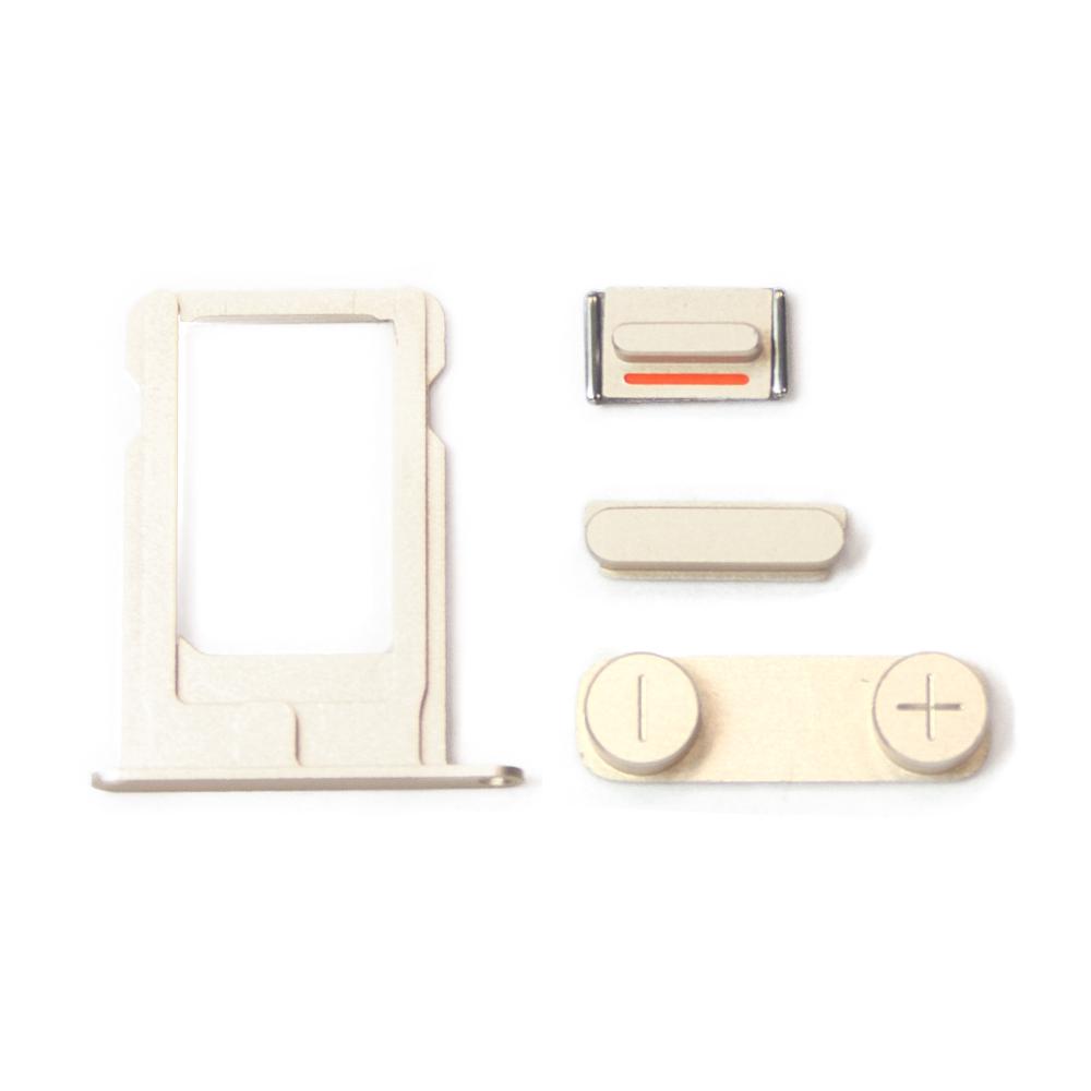 Купить оптом Комплект кнопок и лоток под sim-карту для iPhone 5, золотой.