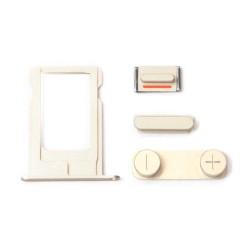 Комплект кнопок и лоток под sim-карту для iPhone 5, золотой.