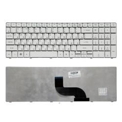 Клавиатура для ноутбука Acer Timeline 5810T, 5410T, 5820TG, 5536, 5750G Series. Плоский Enter. Белая, без рамки. PN: NSK-AL10R, 9J.N1H82.A0R.