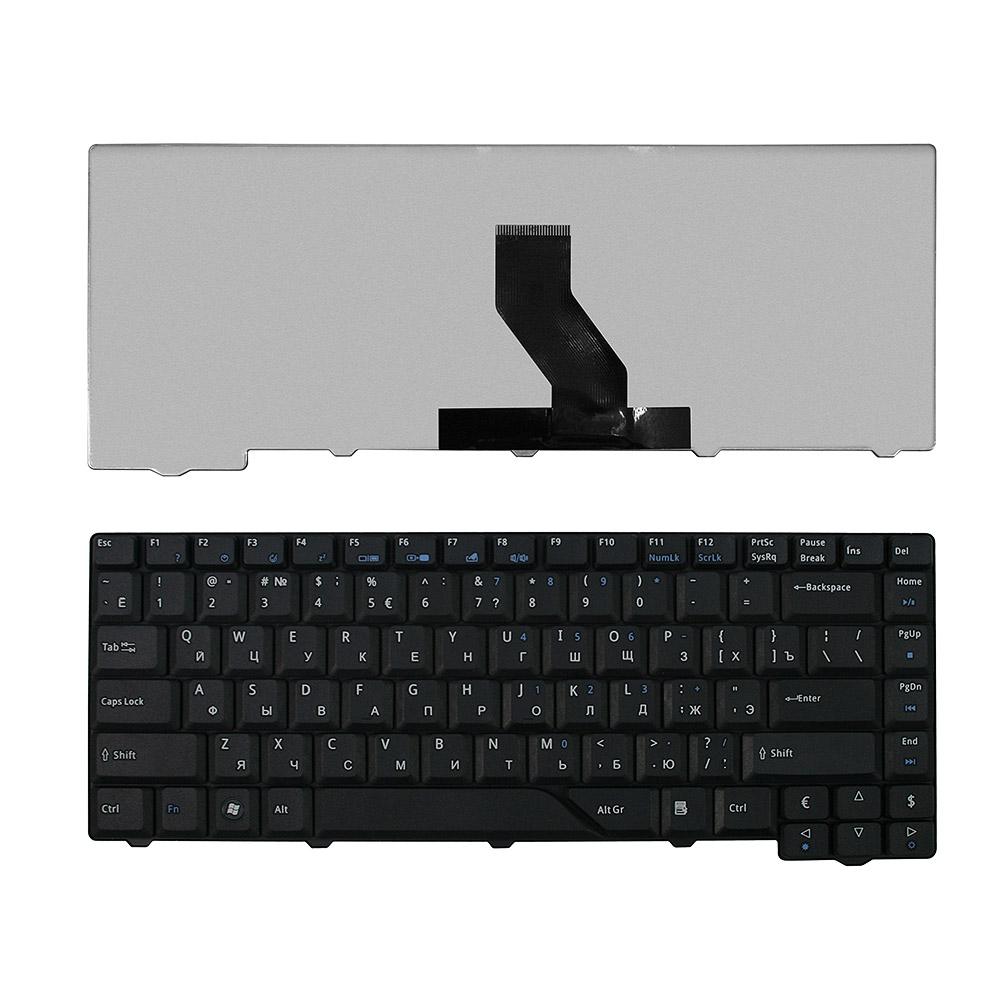 Клавиатура для ноутбука Acer Aspire 4220, 4230, 4310, 4520, 4710, 4720, 5230, 5300 Series. Плоский Enter. Черная, без рамки. PN: V072146AS1.