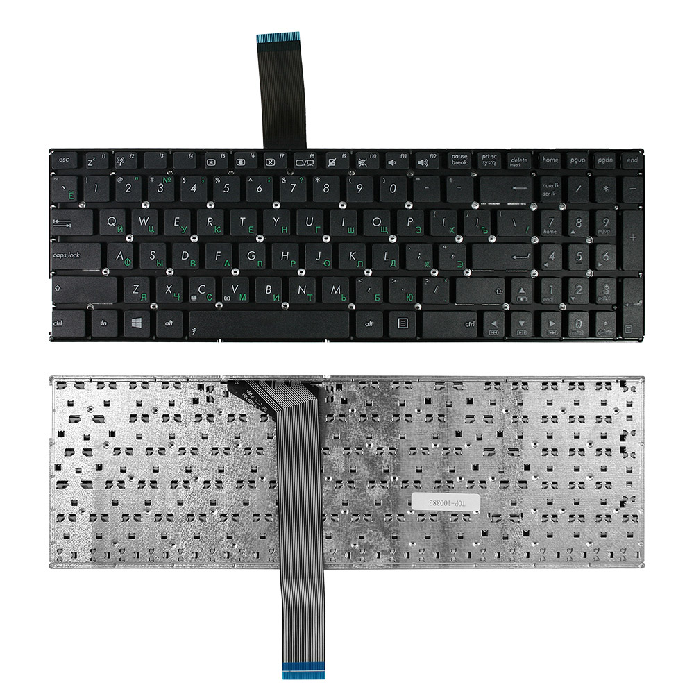 Клавиатура для ноутбука Asus A56C, A56CA, A56CB, A56CM, K56C, K56CA Series. Плоский Enter. Черная, без рамки. PN: 0KN0-N31RU, 130KNB0-6108RU00.