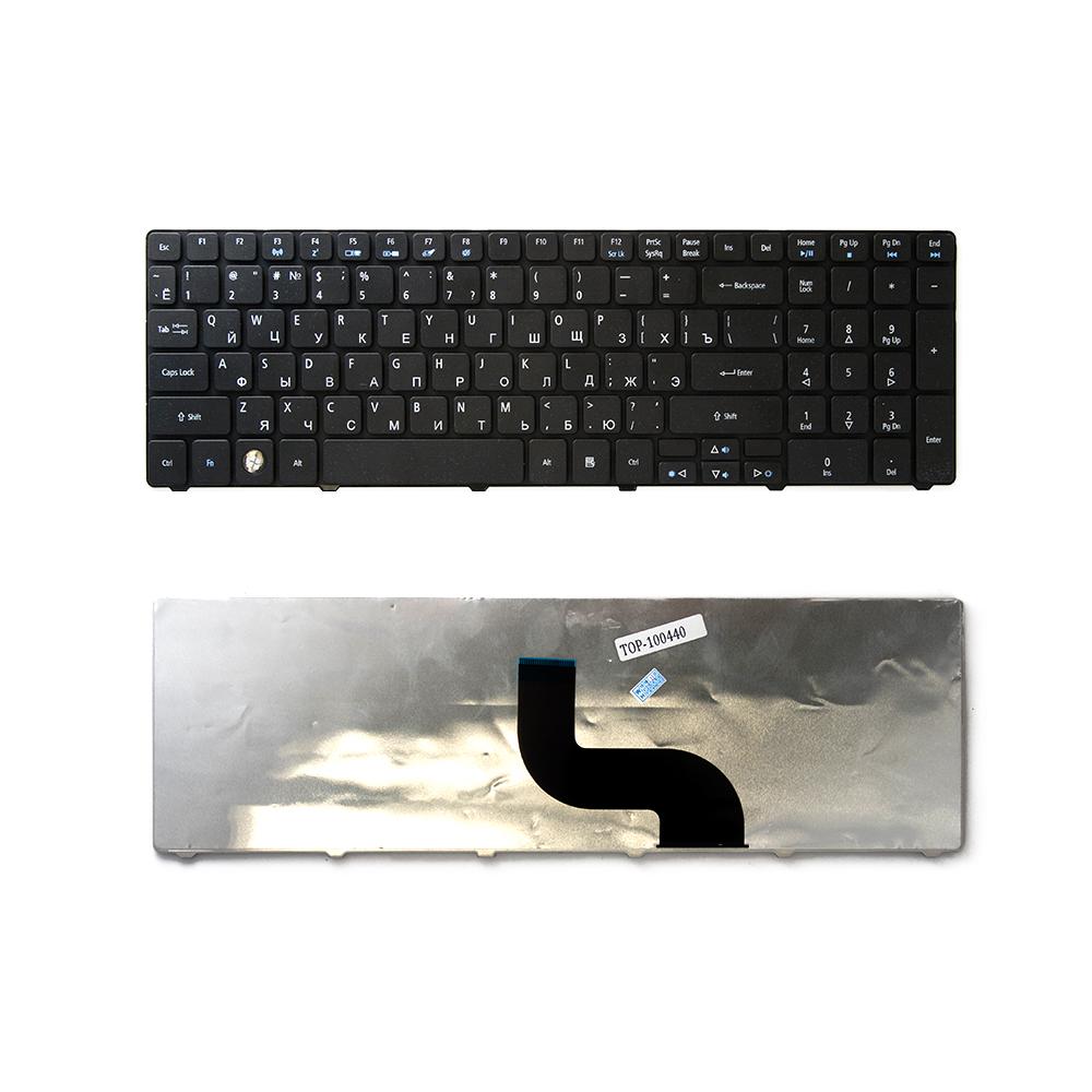 Купить оптом Клавиатура для ноутбука Acer Aspire 5810T, 5410T, 5820TG, 5738, 5739, 5542, 5551, 5553G Series. Плоский Enter. Черная, без рамки. PN: KB.I170G.276.