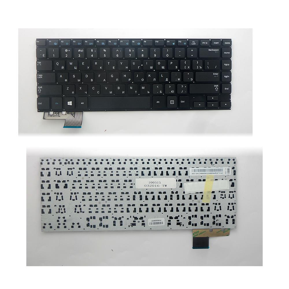 Клавиатура для ноутбука Samsung 530U4B. Плоский Enter. Черная, без рамки. PN: BA59-03260A.