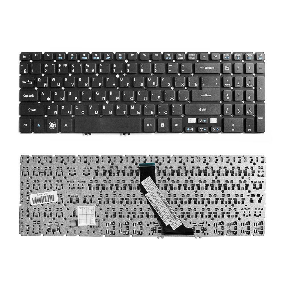 Клавиатура для ноутбука Acer Aspire V5-571, V5-531, V5-551 Series. Г-образный Enter. Черная, без рамки. PN: NSK-R37SQ 0R, NSK-R3KBW.