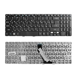 Клавиатура для ноутбука Acer Aspire V5-531, V5-531G, V5-551, V5-551G, V5-571 Series. Г-образный Enter. Черная, без рамки. PN: NSK-R37SQ 0R, NSK-R3KBW.