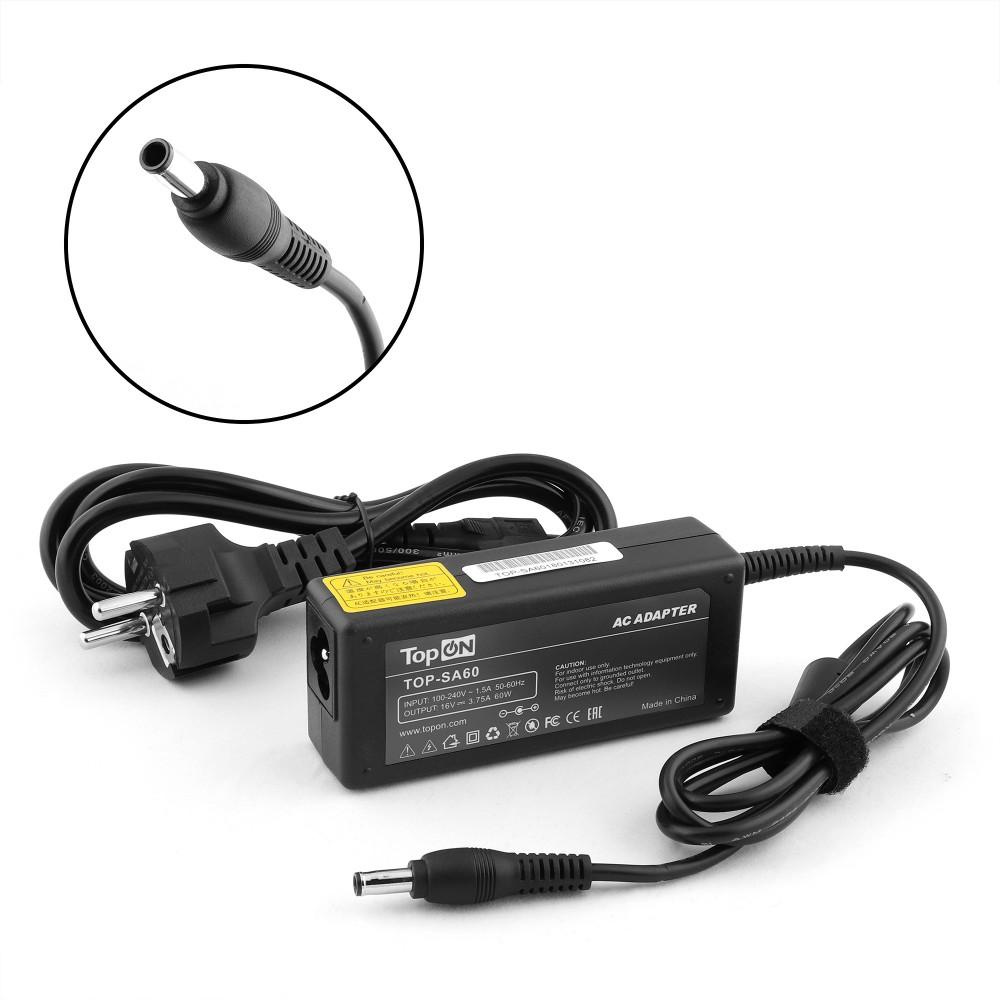 Купить оптом Блок питания TopON для ЖК монитора 16V 3.75A  (5.5 х 3.0) 60W PSCV600104A TOP-SA60