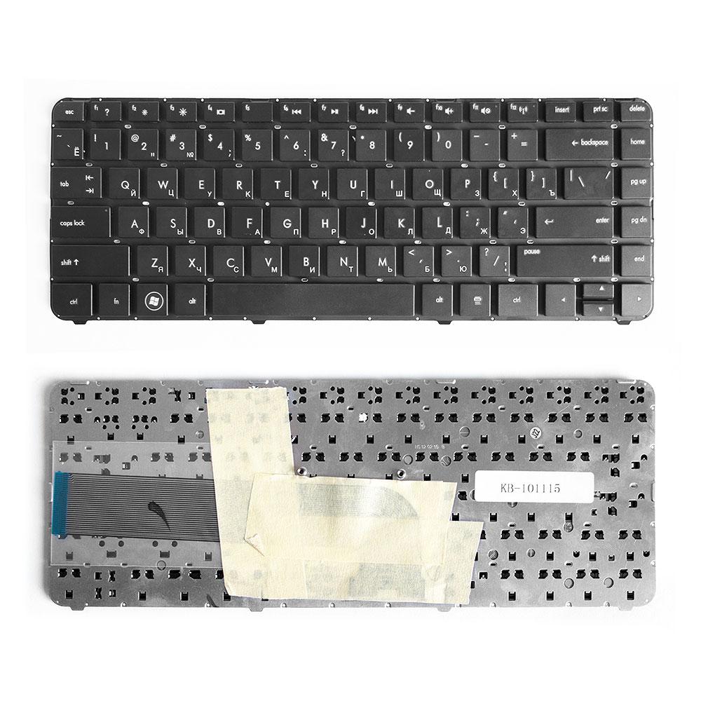 Клавиатура для ноутбука HP Pavilion DV4-3000, DV4-3100, DV4-3200 Series. Плоский Enter.Черная, без рамки. PN: Z.N6JUF.00R, MP-10N33SU-6886.