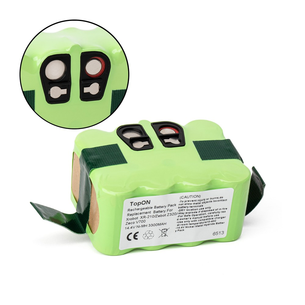 Аккумулятор для робота-пылесоса Samba XR-210, Xrobot XR-510, Zebot, Zeco, InDream 9200, 9300. 14.4V 3300mAh Ni-MH. PN: YX-NI-MH-022144, NS3000D03X3.