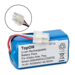 Аккумулятор для робота-пылесоса iClebo Arte YCR-M05, Pop YCR-M05-P, Smart YCR-M05-10. 14.4V 3400mAh Li-ion. PN: EBKRWHCC00978, EBKRTRHB000118-VE.