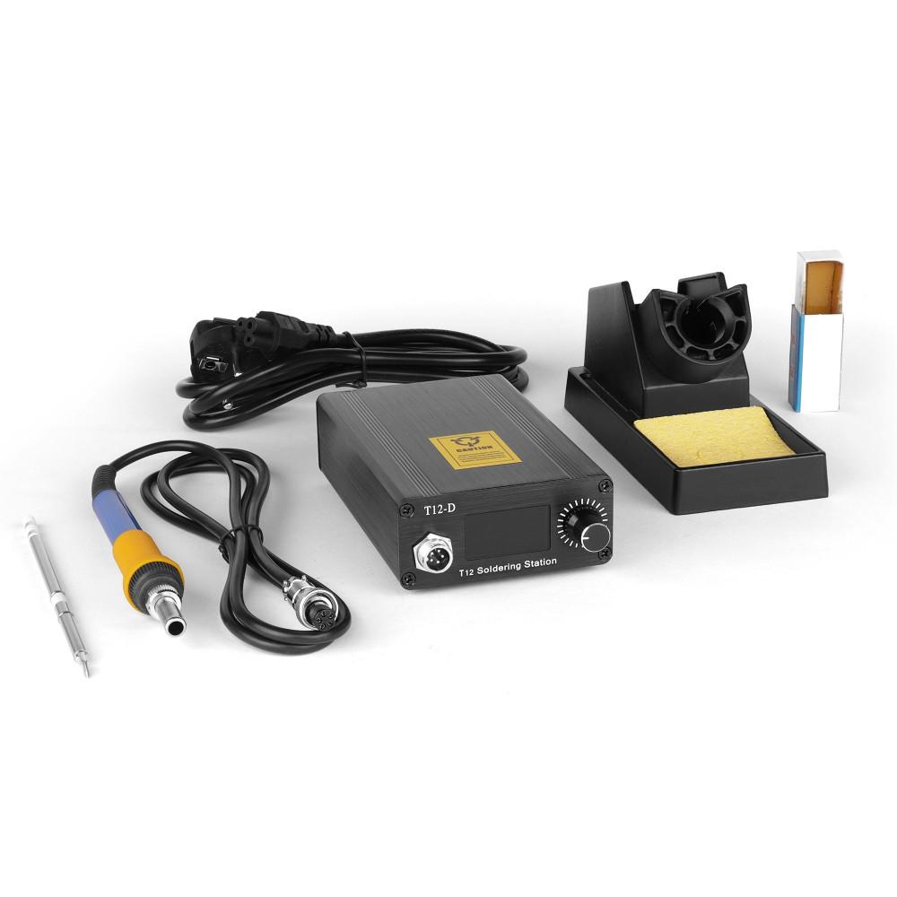 Купить оптом Процессорная паяльная станция DSK T12-D OLED на 72W для работы со сменными жалами HAKKO T12 и T2 Series.