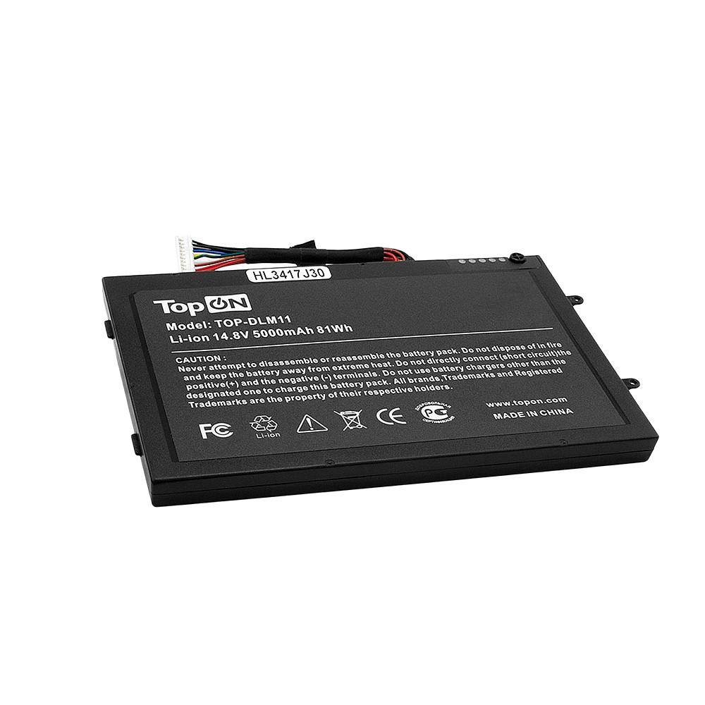 Аккумулятор для ноутбука Dell Alienware M11X R, M14x. 14.8V 5000mAh 81Wh. PN: PT6V8, T7YJR.