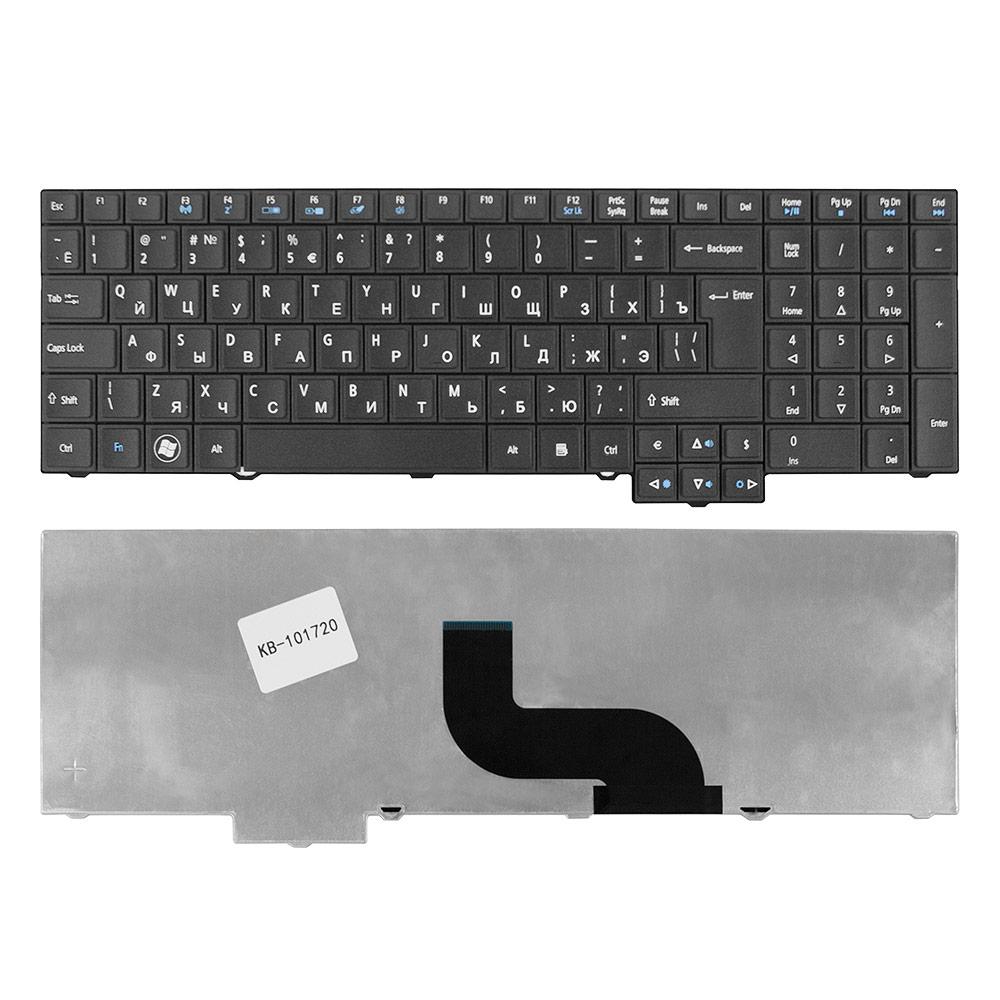 Клавиатура для ноутбука Acer TravelMate 5760, 5760G, 5760Z, 5760ZG, 6595TG Series. Г-образный Enter. Черная, без рамки. PN: 9Z.N6SSQ.00R, ZRJ.