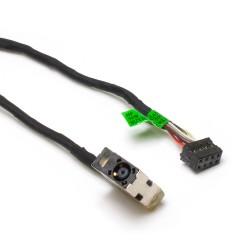 Разъем питания PJ582 для ноутбука HP 250, 255, Pavilion 15-E, 17-E Series. 4.5x3.0 mm с иглой. С кабелем 17 см. PN: CBL00360-0150, 709802-SD1.