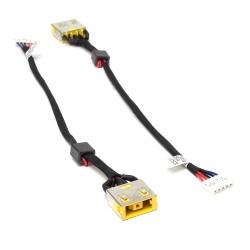 Разъем питания PJ608 для ноутбука Lenovo IdeaPad G400, G490, G500, G505 Series. 11x4.5 mm с иглой. С кабелем 14.5 см. PN: DC30100P200, DC30100NX00.