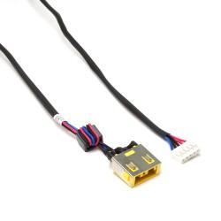 Разъем питания PJ585M для ноутбука Lenovo IdeaPad G400S, G405S, G490 Series. 11x4.5 mm с иглой. C кабелем 23 см. PN: DC301000Y00.