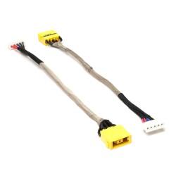 Разъем питания PJ612 для ноутбука Lenovo IdeaPad Z710, Essential G700 Series. 11x4.5 mm с иглой. C кабелем 15 см.