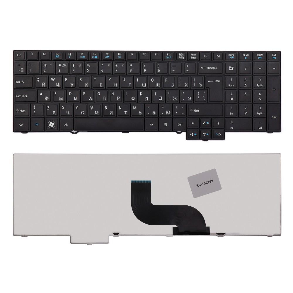 Купить оптом Клавиатура для ноутбука Acer TravelMate 5760, 7750, 6595TG Series. Плоский Enter. Черная, без рамки. PN: 9Z.N6SSQ.00R.