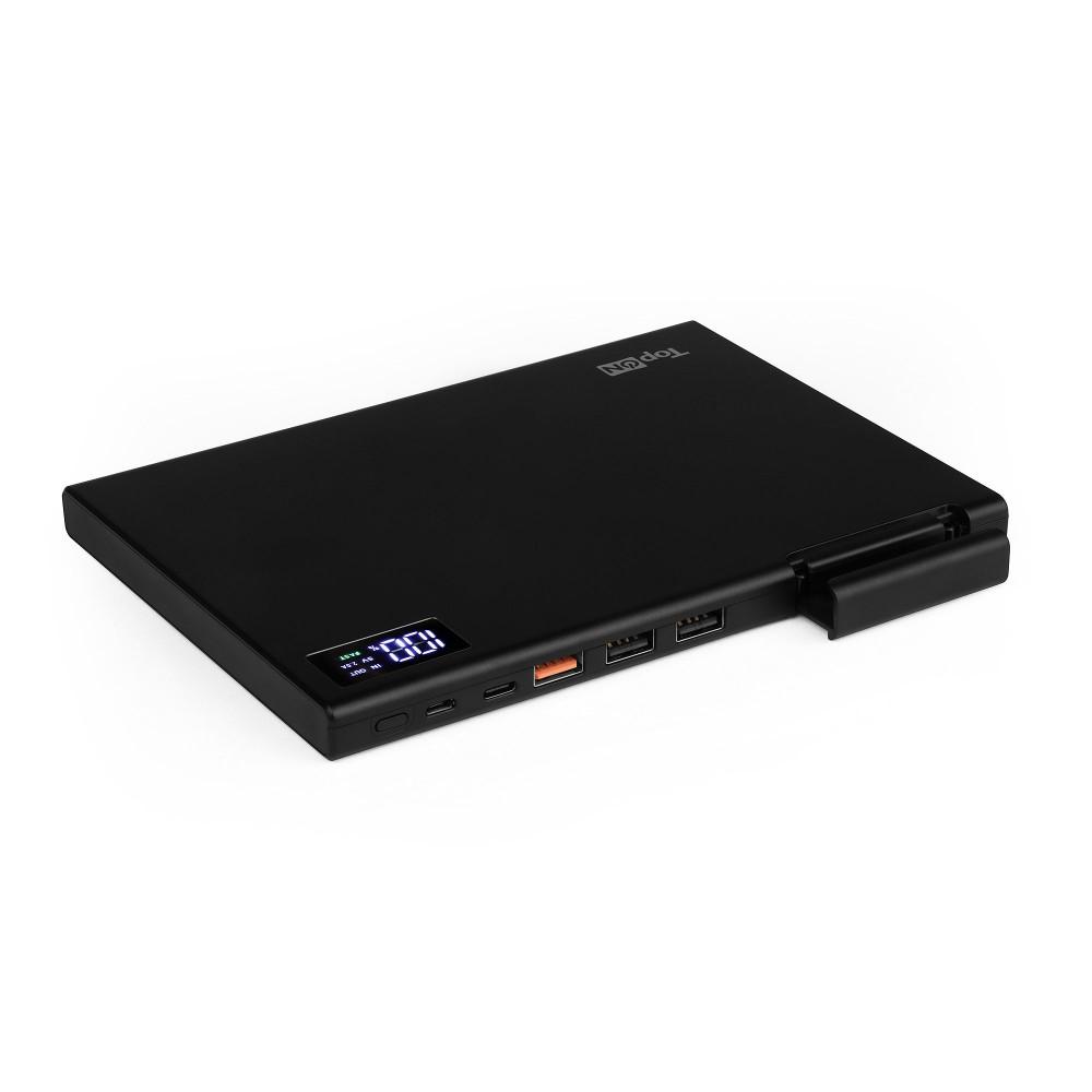 Внешний аккумулятор TopON TOP-MAX2 30000mAh QC3.0, QC2.0, Power Delivery. Type-C, MicroUSB, 3 USB-порта и кредл. Черный