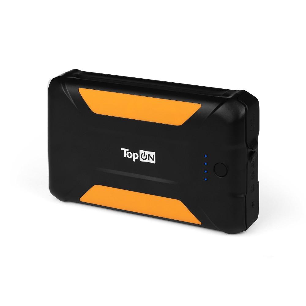 Купить оптом Внешний аккумулятор TopON TOP-X38 38000mAh 3 USB-порта, автомобильная розетка 12V 15A 180W, аварийный свет, фонарь, защита от пыли и брызг. Черный