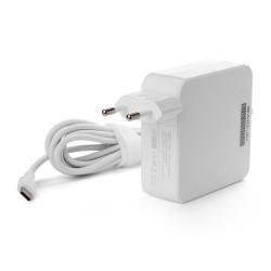 Универсальный блок питания 60W c Type-C, Power Delivery 3.0, Quick Charge 3.0, кабель 175 см. Белый