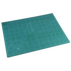 Коврик для макетирования и резки 45x50см A2 двусторонний с разметкой. ПВХ с самовосстанавливающимся покрытием. Цвет зеленый