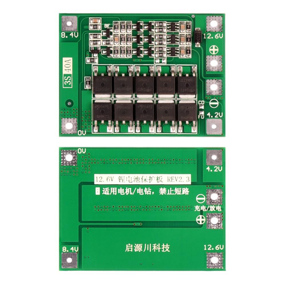 Купить оптом bMS-контроллер 3S/40A для Li-Ion ячеек 3.7V 18650, 26650.