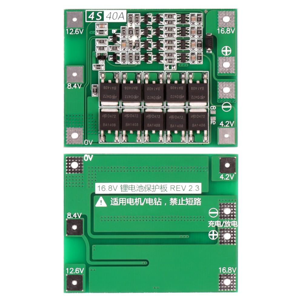 Купить оптом bMS-контроллер 4S/40A для Li-Ion ячеек 3.7V 18650, 26650.