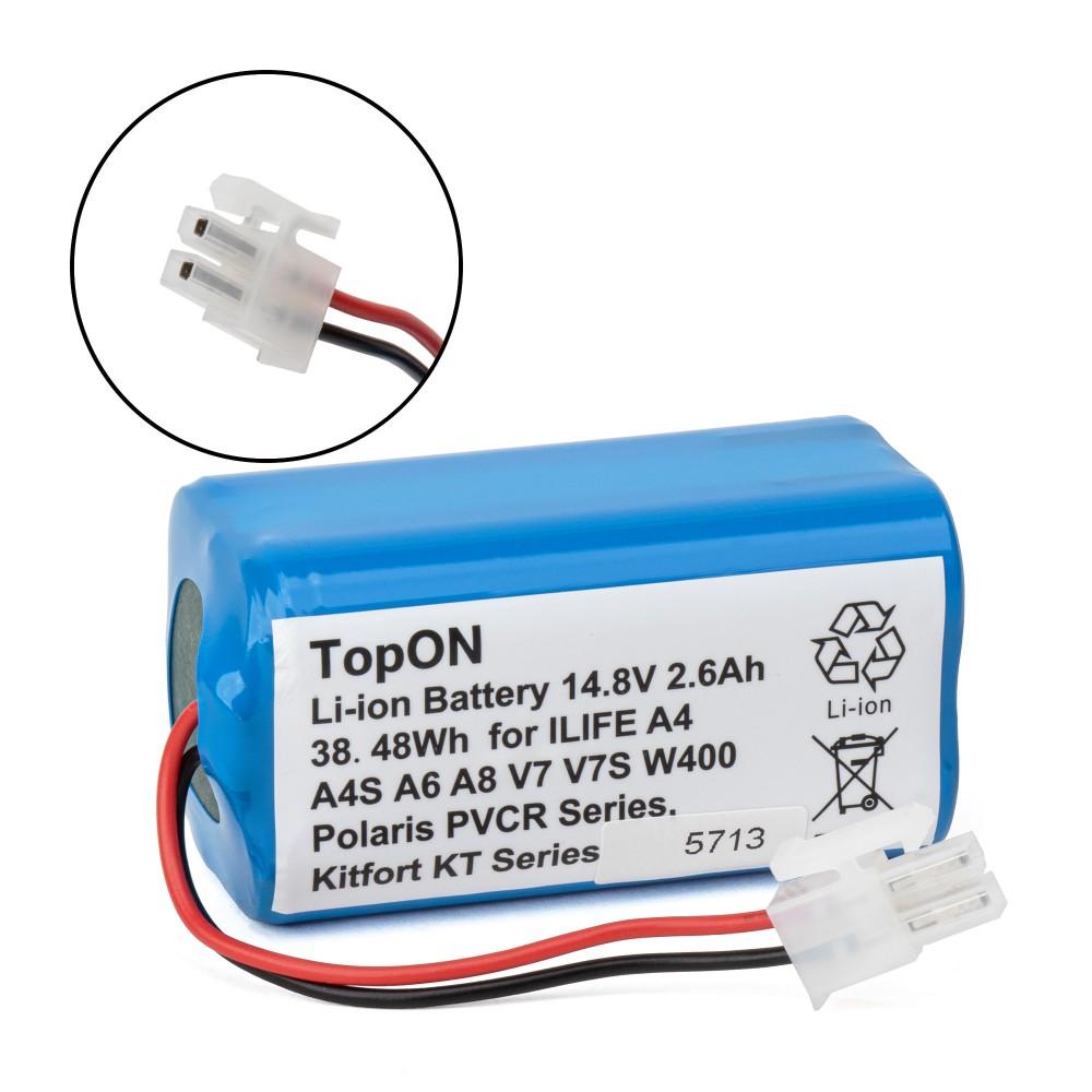 Купить оптом Аккумулятор для робота-пылесоса Chuwi iLife A4, A4S, A6, A8, V7, V7s, W400. 14.8V 2.6Ah (Li-Ion) PN: CS-ECR131VX