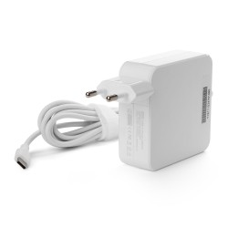 Универсальный блок питания 65W с портом USB-C, Power Delivery 3.0, Quick Charge 3.0, кабель 175 см. Белый