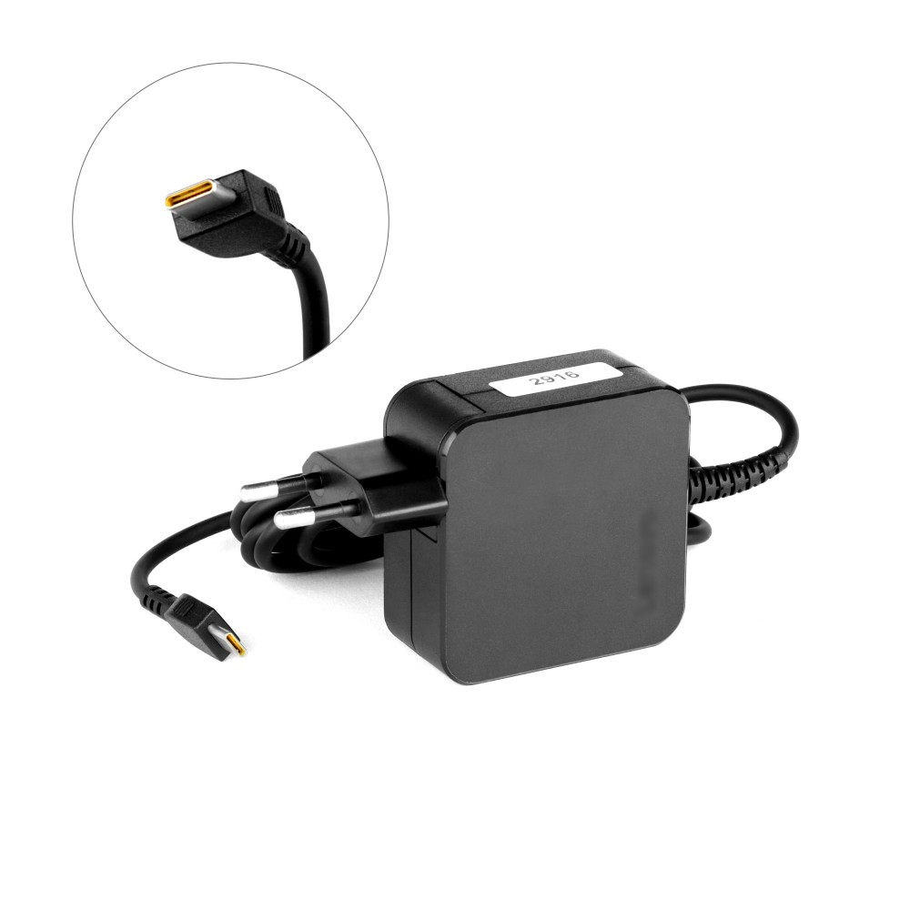 Купить оптом Блок питания (зарядное, адаптер) Lenovo 20v 2.25a 45W USB Type-C  формфактор квадрат