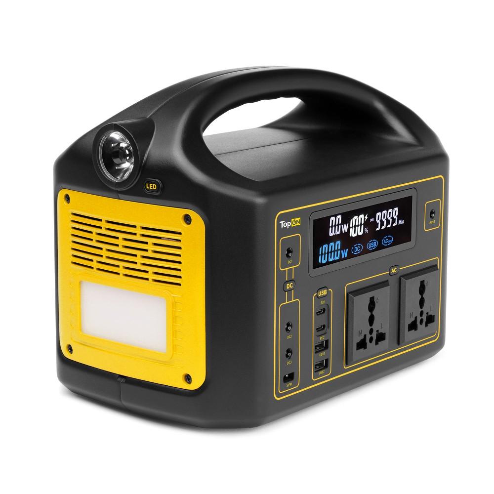 Купить оптом Внешний аккумулятор TopON TOP-X220 160800mAh, 2 AC 220V 300W, DC1 5V-24V 80W, DC2/DC3 60W, XT30, 2 Type-C PD 60W/18W, USB1/USB2 QC3.0, фонарь. Черный