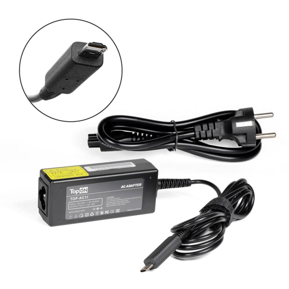 Купить оптом Блок питания TopON для Acer 12V 1.5A (Acer Micro USB) 18W AK.018AP.033 TOP-AC11-2