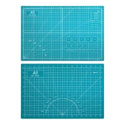 Коврик для макетирования и резки 45x30см A3 двусторонний с разметкой. ПВХ с самовосстанавливающимся покрытием. Цвет зеленый