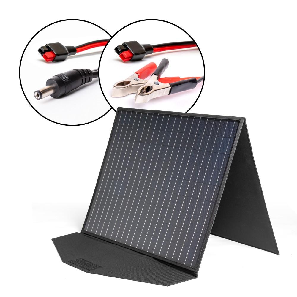 Купить оптом Солнечная панель TOP-SOLAR-102 100W 18V DC и HPP, влагозащищенная, складная на 2 секции