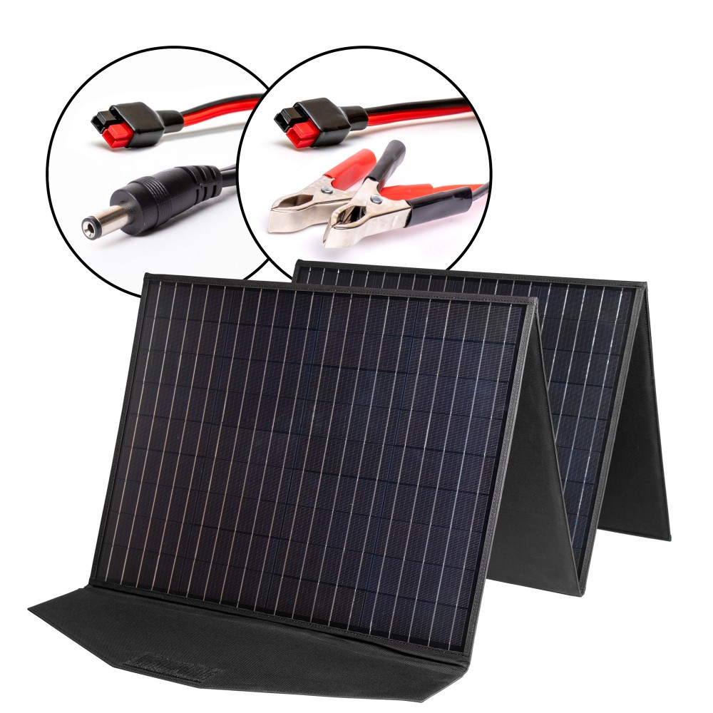 Купить оптом Солнечная панель TOP-SOLAR-204 200W 18V DC и HPP, влагозащищенная, складная на 4 секции