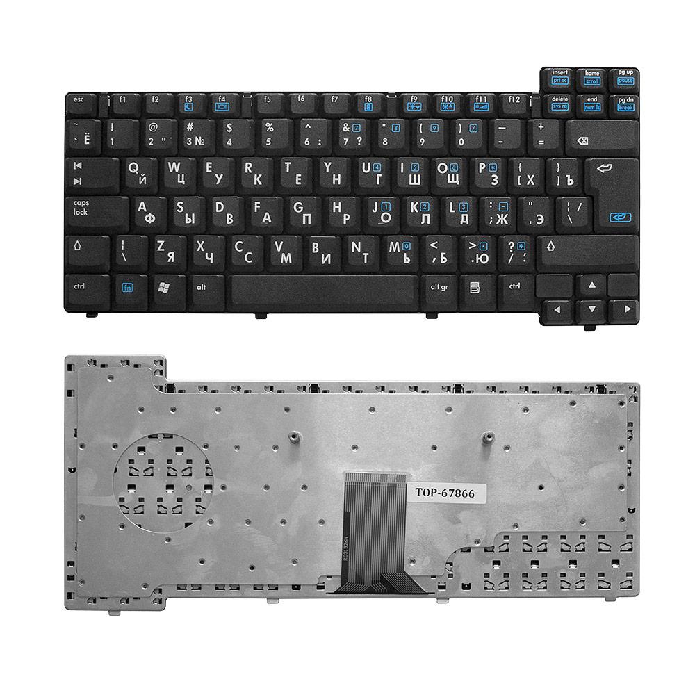 Клавиатура для ноутбука HP Compaq nx6105, nx6110, nx6115, nx6120, nx6130, nx6310 Series. Г-образный Enter. Черная без рамки. PN: NSK-C6A0R, 9J.N7182.A
