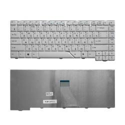 Клавиатура для ноутбука Acer Aspire 4220, 4230, 4310, 4520, 4710, 4720, 5230, 5300 Series. Плоский Enter. Белая, без рамки. PN: V072146AS1.