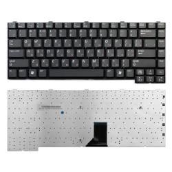 _Клавиатура для ноутбука Samsung M40, M45, R50, R60 Series. Плоский Enter. Черная без рамки.