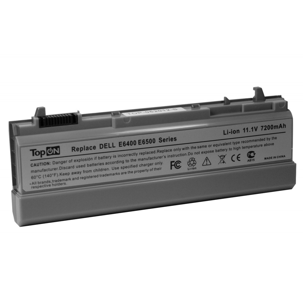 Аккумулятор для ноутбука усиленный Dell Latitude E6400, E6510, Precision M2400, M4400, M4500, M6400 Series. 11.1V 7200mAh PN: NM632, W1193 Серый