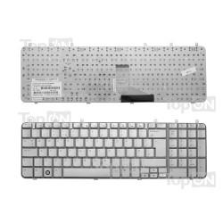 Клавиатура для ноутбука HP Pavilion DV7-1000 DV7-1100 DV7-1200 Series. Серебристая.