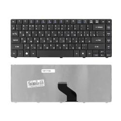 Клавиатура для ноутбука Acer Aspire 3810T, 3820T, 3410T, 4810T, 4410T, 4736G, 4741G Series. Плоский Enter. Черная, без рамки. PN: AEZQ1R00010.