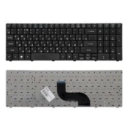 Клавиатура для ноутбука Acer Aspire 5810, 5810T, 5410T, 5820TG, 5536, 5738, 5739, 5551 Series. Плоский Enter. Черная, без рамки. PN: NSK-AL10R.