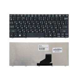 Клавиатура для ноутбука Acer Aspire One 532, 522, D255, D260 Series. Плоский Enter. Черная, без рамки. PN: 90.4GS07.C0R.
