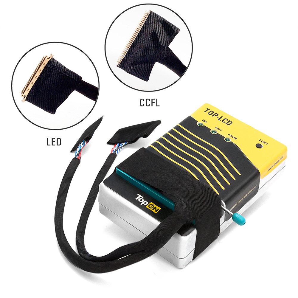 Программатор универсальный для матриц с кабелем 30pin (CCFL) и 40pin (LED). Позволяет перепрошить микросхему EEPROM матрицы ноутбука любой диагонали.