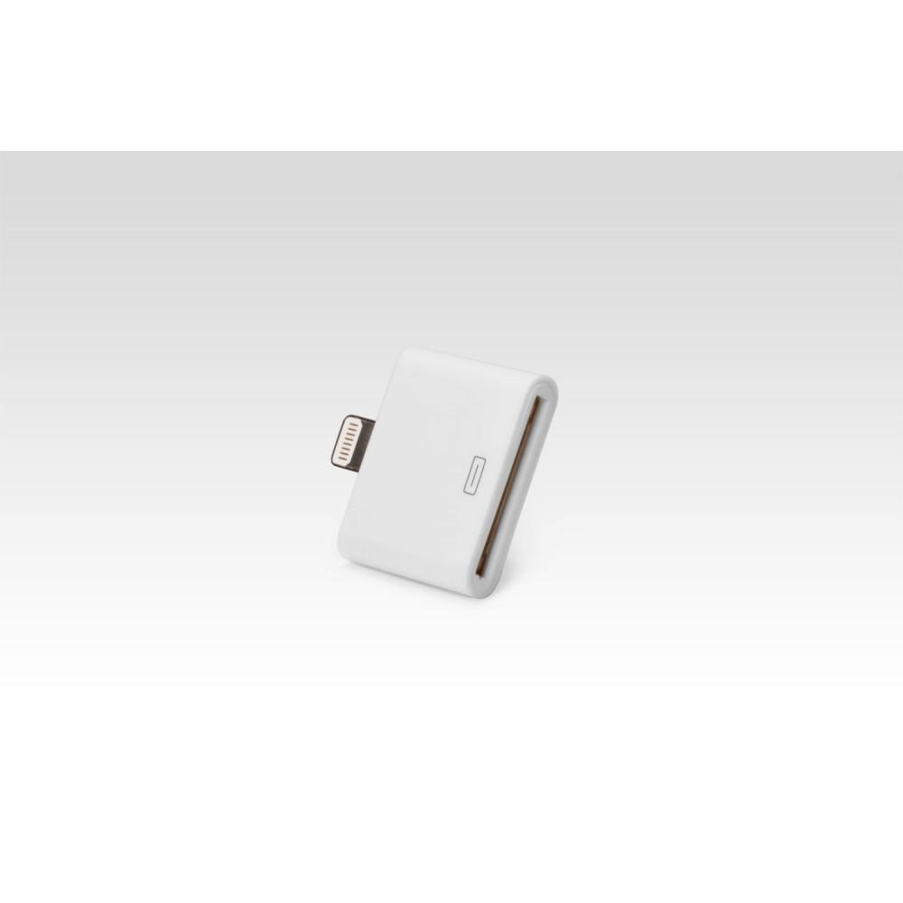 Переходник Apple 30-pin -> Lightning 8-pin для Apple iPhone X, iPhone 8 Plus, iPhone 7 Plus, iPhone 6 Plus, iPad, iPod. Замена: MD823ZMA. Белый.