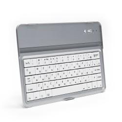 Беспроводная Bluetooth-клавиатура для Apple iPad Mini, iPod Touch и iPhone. Защита от влаги и пыли. До 55 часов непрерывной работы. Серебристая.