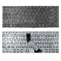 Клавиатура для ноутбука Acer Aspire V5-431, V5-471, M3-481 Series. Г-образный Enter. Черная без рамки. PN: NSK-R24SW 0R.