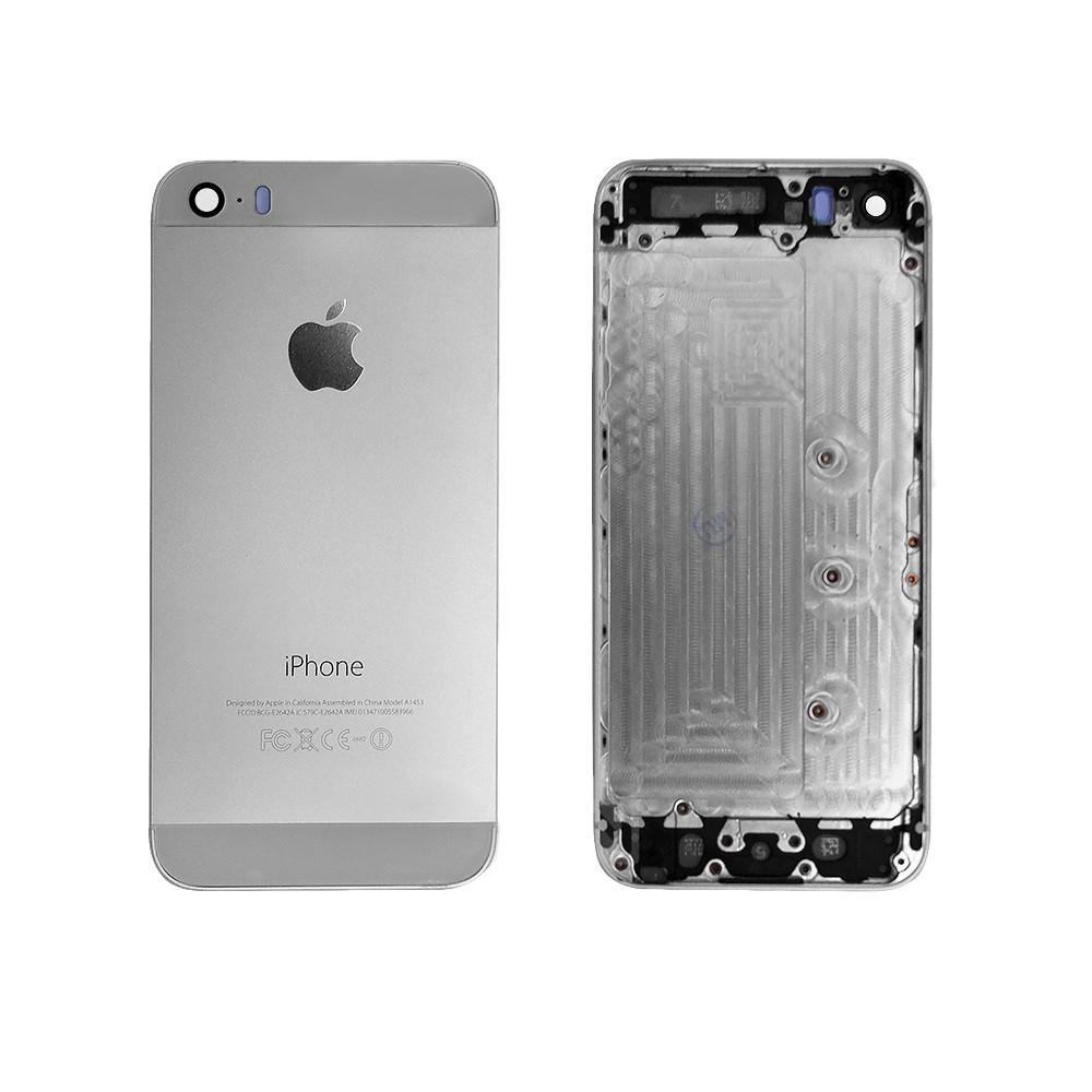 Задняя панель, корпус для смартфона Apple iPhone 5S, A+. Белая.