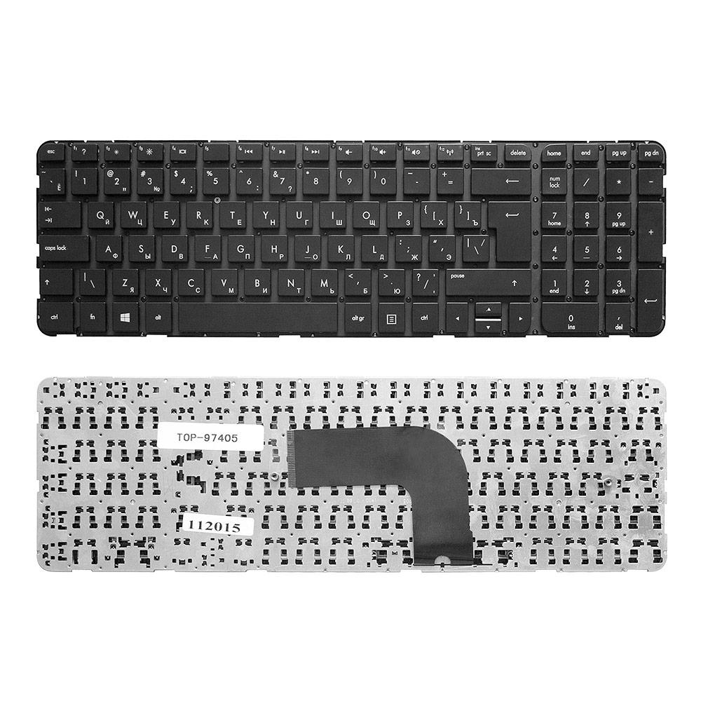 Клавиатура для ноутбука HP Pavilion DV6-7000, DV6-7100, DV6-7200, DV6-7300 Series. Г-образный Enter. Черная, без рамки. PN: NSK-CK0UW, 9Z.N7YUW.00R.